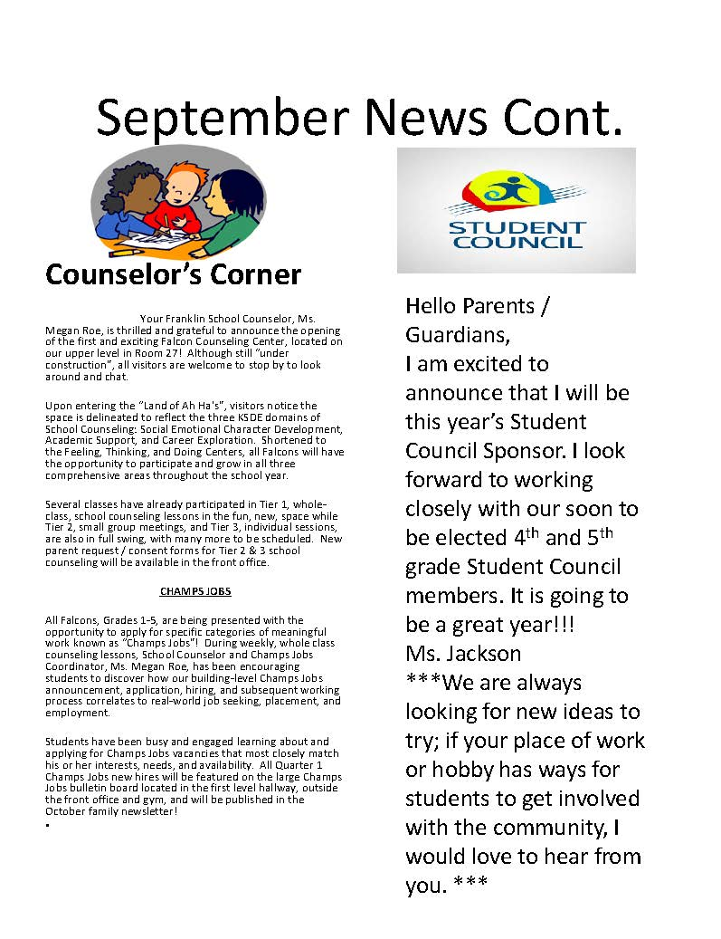 Photo of newsletter