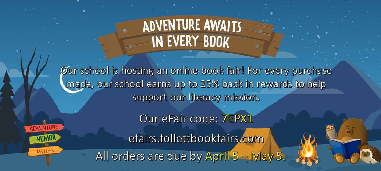 Picture with book fair information.  See text below.